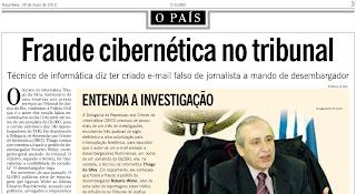 matéria publicada no jornal O GLOBO de 18 de maio de 2010