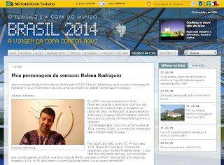 portal da Copa do Mundo de 2014, site oficial do Ministério do Turismo