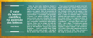 publicado na revista RIO SHOW do jornal O GLOBO de 06 de novembro de 2009