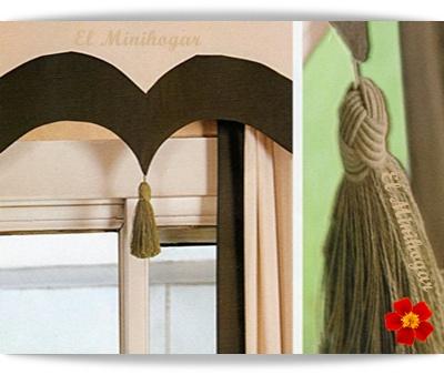El minihogar for Como hacer cortinas para salon