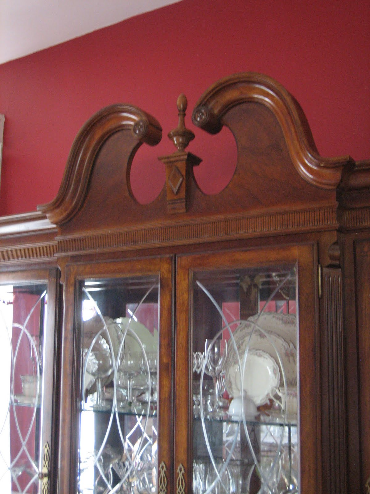 Moving On To Furniture, In Our Dining Room We Have This Large China Cabinet.  Another Word For A China Cabinet Is A Vitrine. Some People Call Their China  Or ...