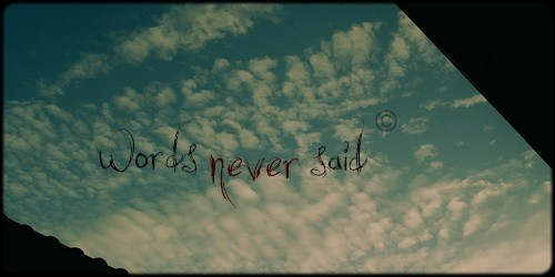 Nunca dito, nem entendido.