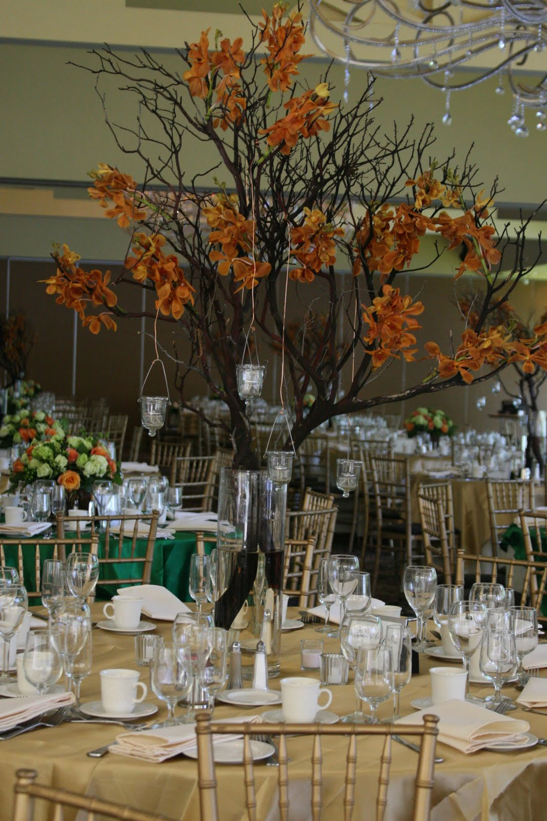 Jessica s country flowers simple branch centerpieces