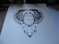 scarab design copyright Jennifer Rose Phillip