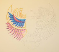 coloured Egyptian scarab copyright jennifer rose phillip