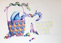 drawing of easter dragons copyright Jennifer rose phillip