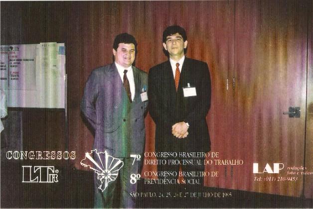 Luiz Flávio Madeira com o Assessor do Banco do Brasil