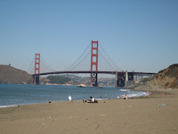 Golden Gate Bridge from Baker Beach in San Francisco