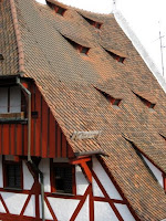 House with a red roof in Nuremberg