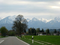 Bavarian Alps as seen from the road