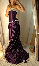 Purple Corset Wedding Dress