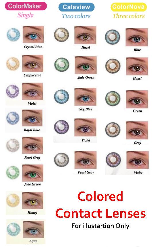 Aquaclear Colored Contacts