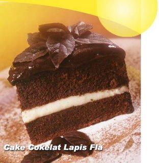 Resep Cake Coklat Lapis Vla