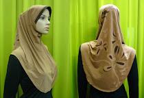 Tudung Lycra Plain Batik (L Size)