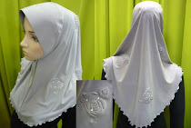 Tudung Flower Plain Exclusive (M size)