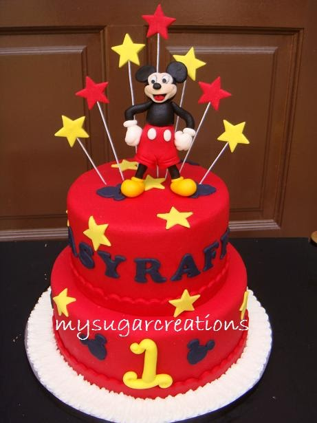 My Sugar Creations 001943746M Mickey Mouse Cake Asraff