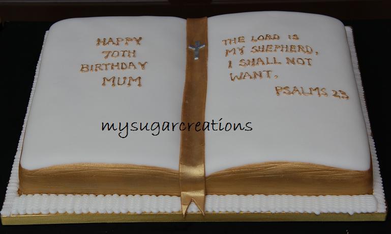 Open Bible Cake Design