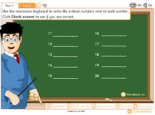 ... : Technology Integration Ideas for the Classroom: Ordinal Numbers