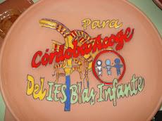 I made this ceramic plate for Córdoba Acoge.