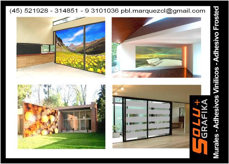 Soluciones graficas dise o decoracion murales adhesivos for Murales adhesivos