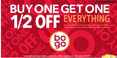 Canadian Daily Deals: Payless Shoes Canada: BOGO Buy 1 Get 1 1/2 Off ...