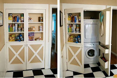 Laundry Room Ideas on Be Different   Act Normal  Storage Solutions For Small Spaces