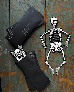 halloween party invitations: skeleton invitations
