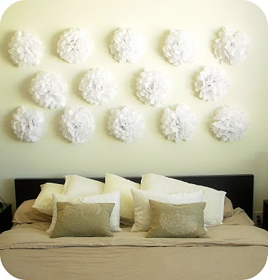 Be Different Act Normal Tissue Paper Flower Headboard