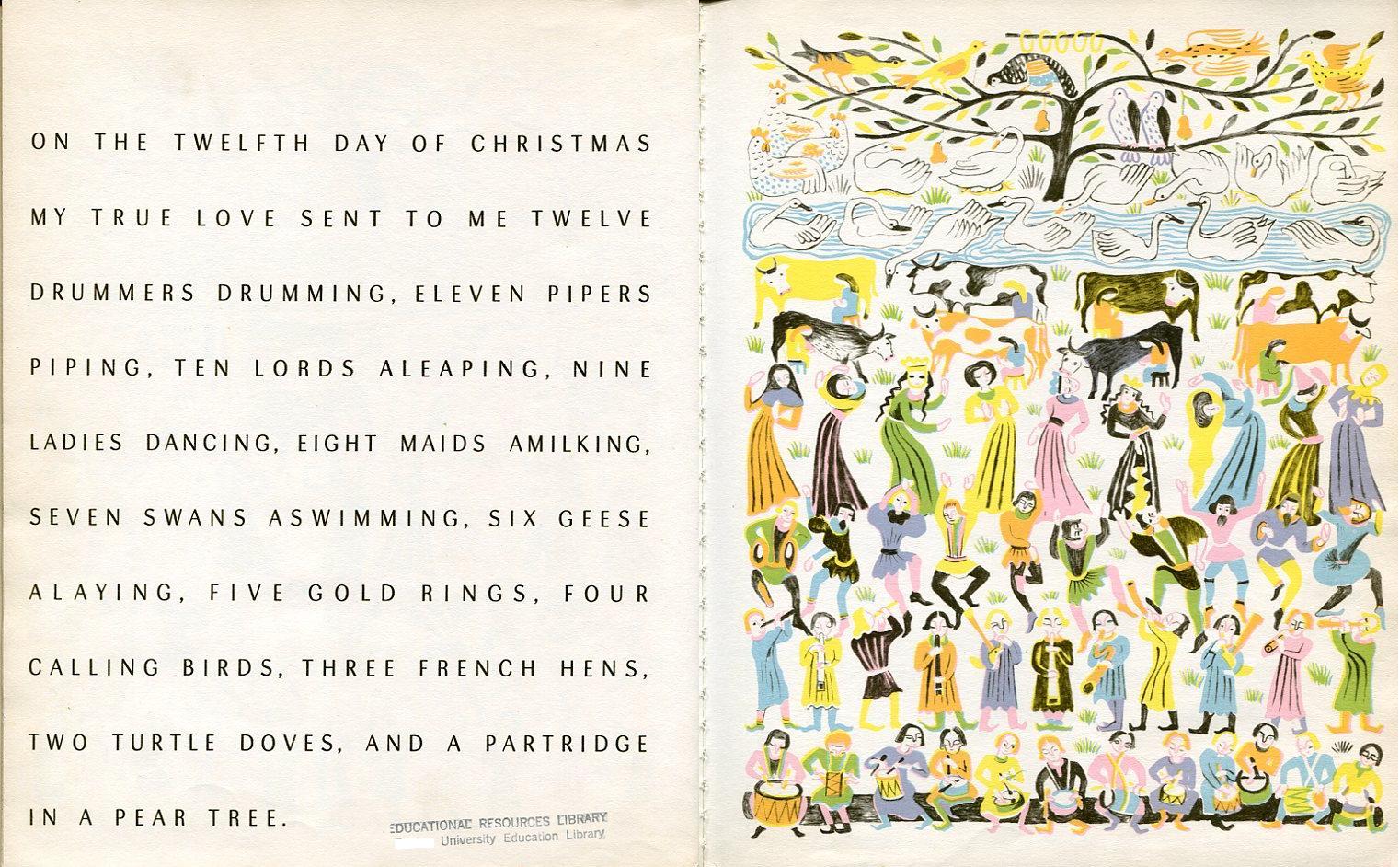 12 Days Of Christmas Lyrics Printable Twelve days