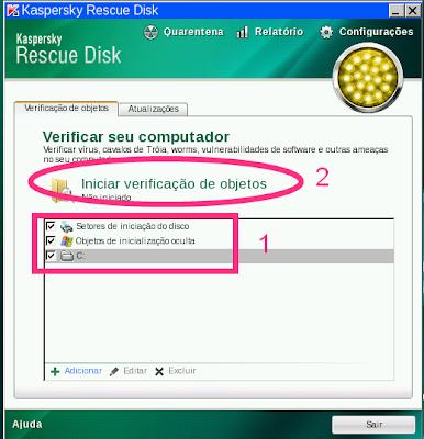 pen drive kaspersky rescue disk instalação