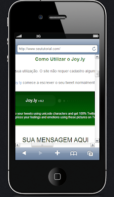 simular meu site no iphone