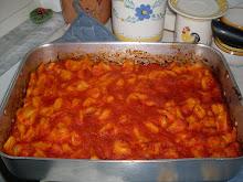 la mia cucina...gnocchi fatti  a mano  da me...slurp!!