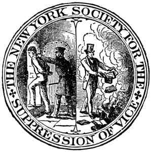 New York Society For The Suppression of Vice