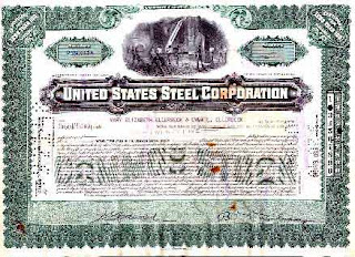 United States Steel Certificate