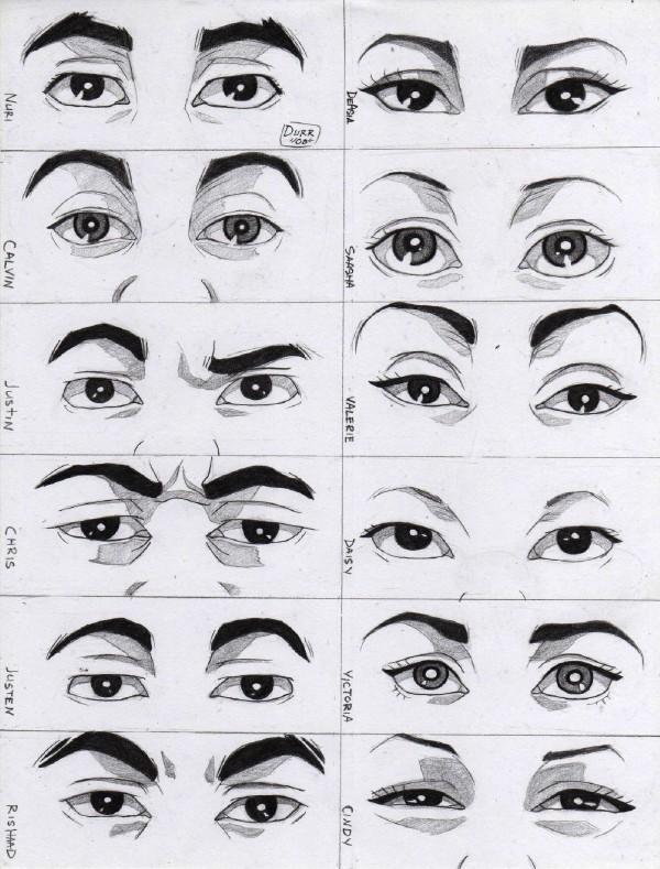 Japanese Anime Drawing Eyes And japanese styles Japanese Anime Eyes