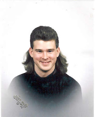 senior portrait, mullet