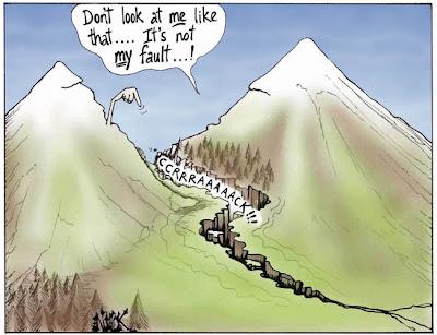 Fault - Mountain Cartoon