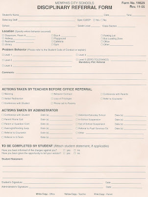 school discipline form template
