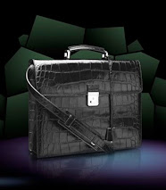 DOLCE & GABBANA MEN'S CROCODILE BRIEFCASE