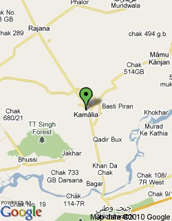 Map of Kamalia City