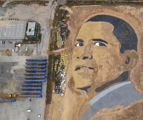 Inilah Lukisan Obama Terbesar Di Dunia [ www.BlogApaAja.com ]