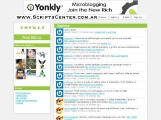 Clon de twitter gratuito Script-Microblogging