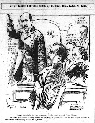 Artist Charles N Landon Sketches Scene At The Haywood Trial
