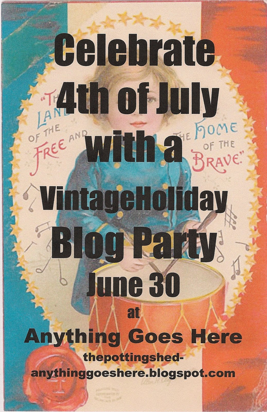 anything goes here the vintage 4th of july blog party. Black Bedroom Furniture Sets. Home Design Ideas