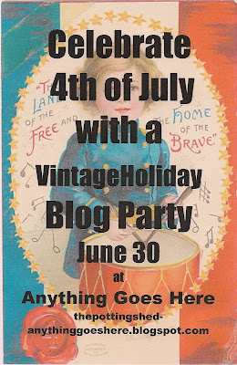 July  Decorations on Anything Goes Here  The Vintage 4th Of July Blog Party
