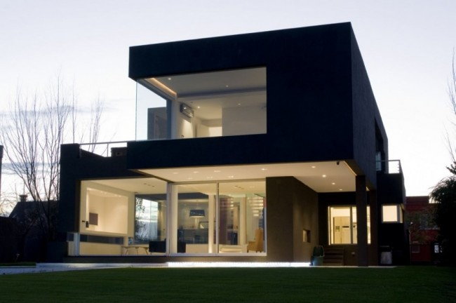 Explore future world modern black home in buenos aires for Future home designs