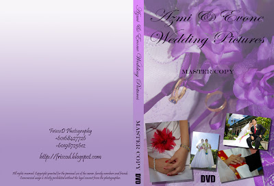 Specially Costumized Wedding DVD Case-click to view