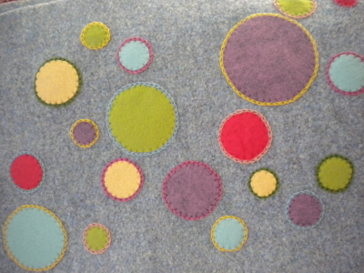 Colorful dots applique tutorial