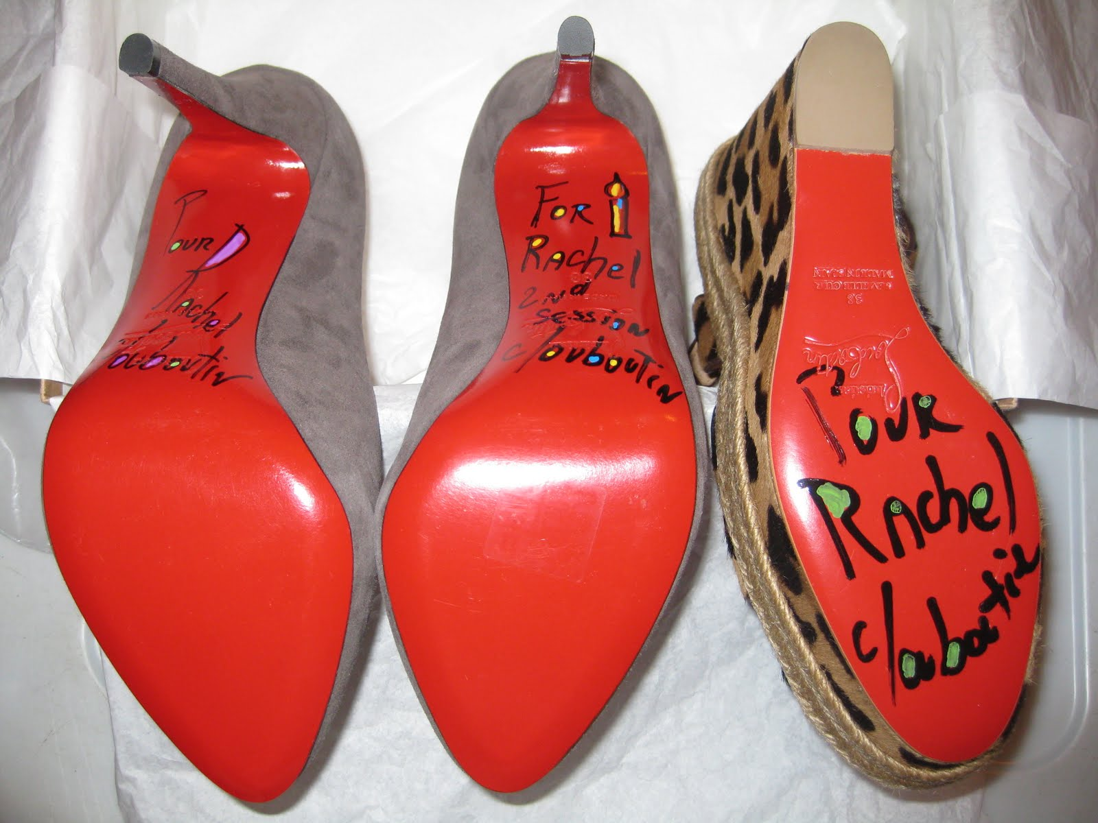 shoes signed by christian louboutin