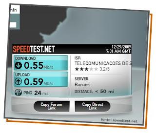 Teste a velocidade da sua conexão de Internet
